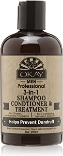 OKAY 3 In 1 Men Shampoo Conditioner Treatment, 8 Ounce
