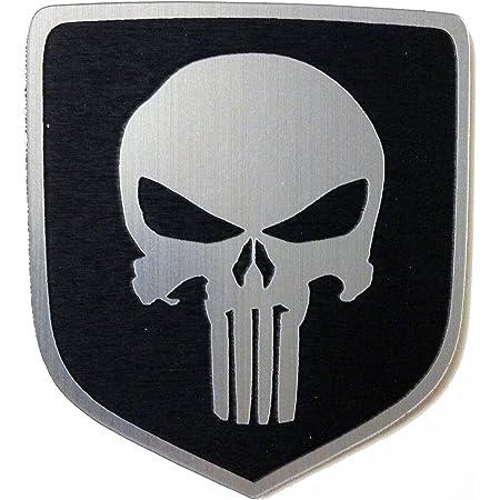 dodge punisher emblem Amazon.com: 2 Dodge Ram Truck Front Emblem Punisher Black