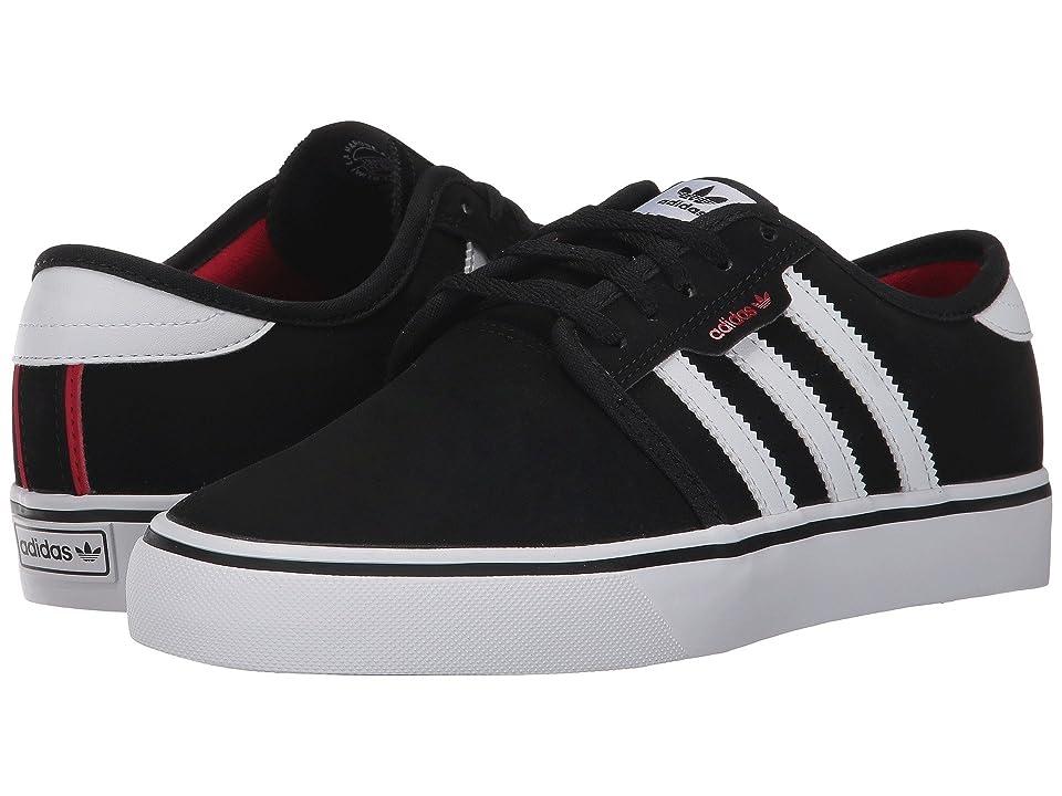 adidas Skateboarding Seeley J (Little Kid/Big Kid) (Core Black/Footwear White/Scarlet) Skate Shoes