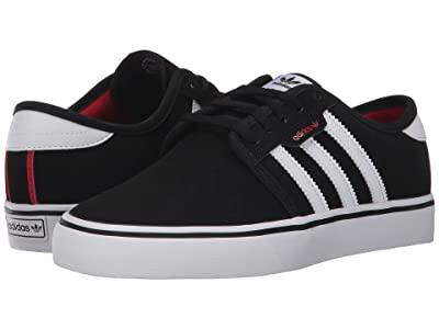 adidas Skateboarding Seeley J (Little Kid/Big Kid) (Core Black/Footwear White/Scarlet) Skate Shoes