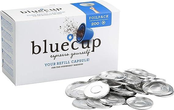 Bluecup 200 Tapas para Cápsulas Recargables compatibles con Nespresso Cafeteras, cápsula Reutilizable Nespresso, cápsulas Rellenables: Amazon.es: Alimentación y bebidas