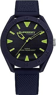 Superdry Men's Quartz Silicone Strap, Blue, 20 Casual Watch (Model: SYG243U)