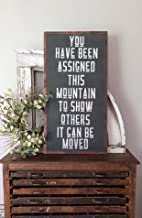 bawansign You Have Been Assigned This Mountain Motivational Wall Decor Inspirational Wall Art Large Wood Sign Vertical Wall Art