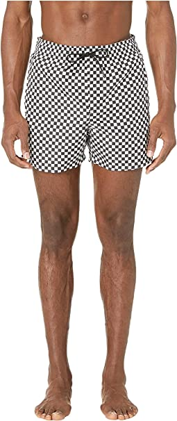 Damier Printed Swim Trunks