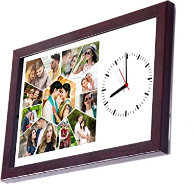 10in X 15in PERSONALISED/CUSTOMISED PHOTO FRAME WALL CLOCKS PHOTO CLOCKS CLOCK WITH PHOTOS FOR HOME DECOR AND GIFTING YOUR LO