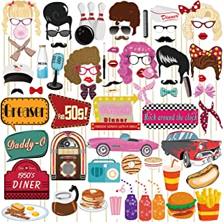 musykrafties 50s Party Photo Booth Props 67 Count