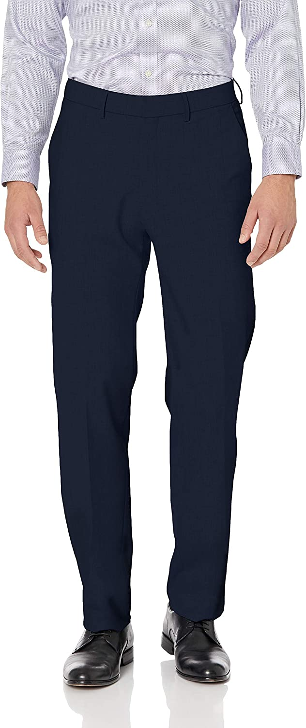 J.M. Haggar Men's Solid New mail order Gab 4-Way Flat Fron Fit Stretch Straight Low price