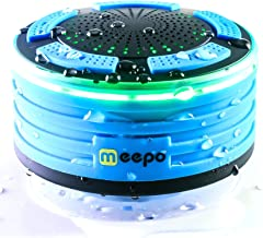 Bluetooth Shower Speaker Waterproof - FM Shower Radio - Portable Wireless Outdoor Speakers - Loud Sound and Deep Bass for Pool, Beach, Kayak, Boat, and Bathtub