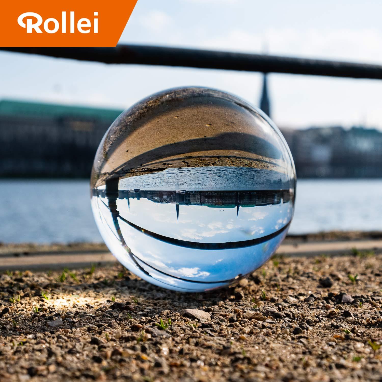 Rollei Lensballフォトガラスボール/クリスタルボール光学コートされたK9ガラス製DSLR(デジタル一眼レフ)、DSLM(マイクロシングル)およびスマートフォンに最適22667 90 mm透明