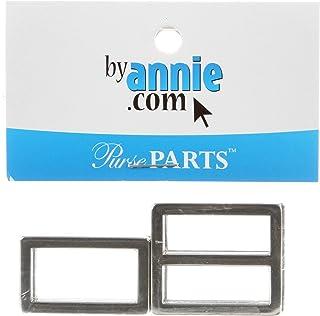 Patterns ByAnnie Hardware Set Nickel 1in Rectangle Ring