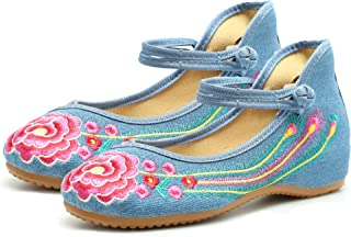 CINAK Embroidery Flats Shoes Women Ballet Comfortable Round Toe Casual Slipe on