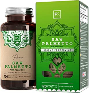 FS Saw Palmetto con Zinc 3000 mg por Porcion 120 Capsulas Veganas