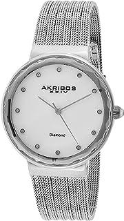 Akribos XXIV Women's Quartz Diamond Fine Mesh Bracelet Watch