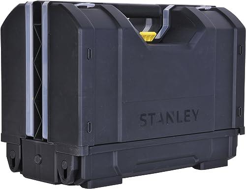 Stanley Stst1-71963 Organiseur 3en1 16,7L - 306 x 157 x 192mm - Couvercle en Plastique Transparent - Large Poignée - ...