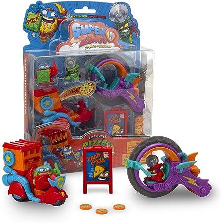 SuperThings Serie 2, Blíster Pizza Mission, PSZSB216IN30, con 2 Figuras Exclusivas, el Superhéroe Supperoni y el Supervillano Circutlar