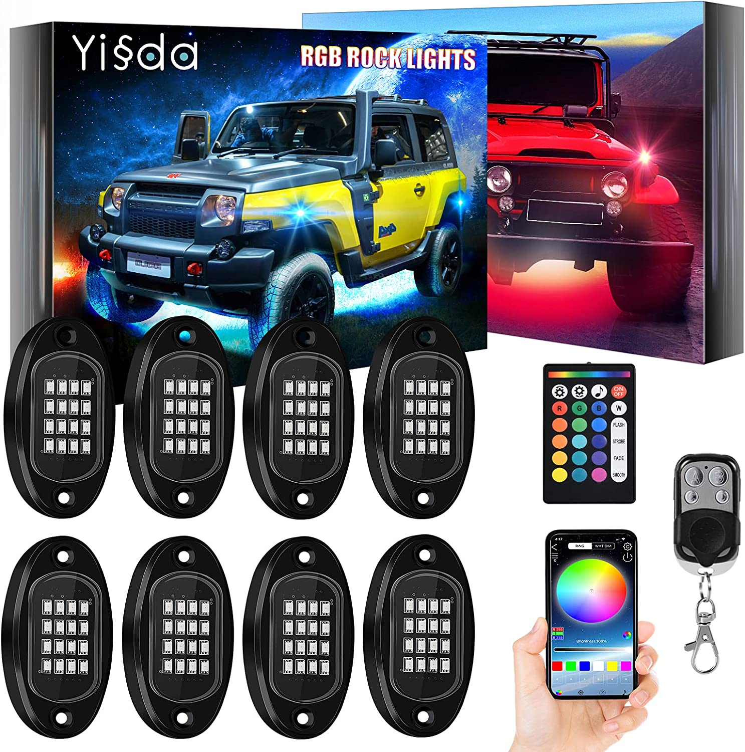 【Brightness Upgraded】 YISSDA Excellence RGB 128LE LED Rock Indianapolis Mall Lights