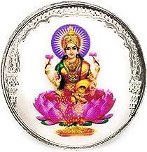 Goddess Lakshmi Silver Coin 3D COLOR(10 Gram / 999 Purity BIS Hallmarked Certified) Laxmi Coins For Puja, Diwali Gift, Hindu Deity Pooja, Spiritual Worship, Wealth, Luck & Prosperity