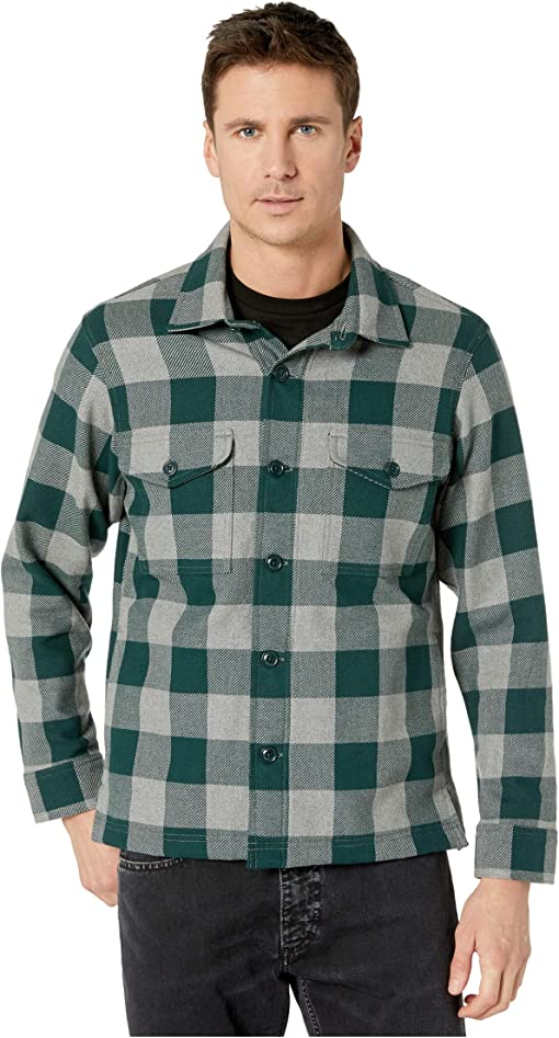 Forest/Heather Grey Buffalo Check