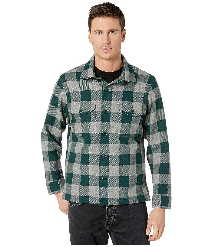 Men's Vintage Workwear – 1920s, 1930s, 1940s, 1950s Filson Deer Island Jac-Shirt ForestHeather Grey Buffalo Check Mens Coat $175.00 AT vintagedancer.com