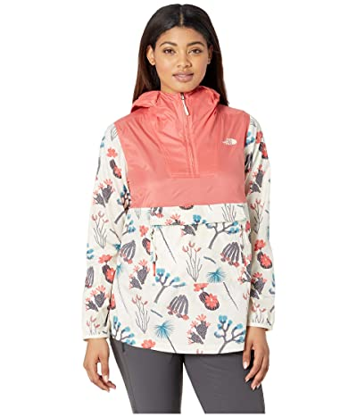 The North Face Printed Fanorak (Spiced Coral/Vintage White Joshua Tree Print) Women