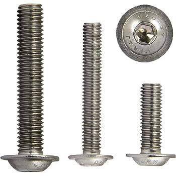 M5x70 ISO 7380 rostfrei Linsenkopfschrauben mit Flansch und Innensechskant 10 St/ück Linsenkopf OPIOL QUALITY Flachkopfschrauben