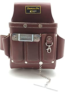 Leather Gold Leather Electrician Tool Pouch, Brown | Professional Tool Belt 3400