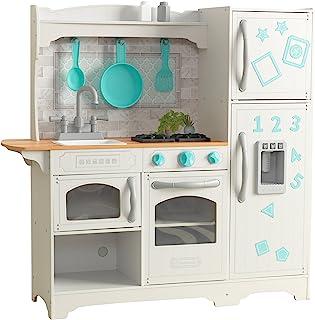comprar comparacion KidKraft- Cocina de juguete de madera Countryside, para niños, con máquina de hacer hielo y juegos de dramatización inclui...