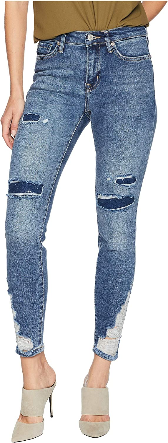 Free People Womens About A Girl Distressed Stretch Jeans