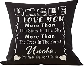 Uncle I Love You More Than The Stars in The Sky More Than The Trees Throw Pillow Case, Uncle, Uncle Gifts, Birthday Gifts ...