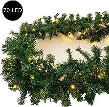 Tannengirlande Weihnachts Dekoration 2M//20 Led Girlande Lichterkette,Led Beleuchtete Girlande mit Lichterkette K/ünstliche Tannengirlande mit integrierter LED Lichterkette Weihnachten LED Lichterkette
