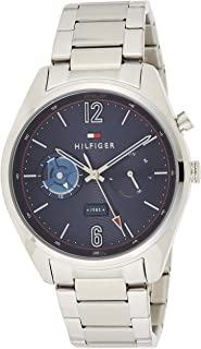 Tommy Hilfiger 1791551 Mens Quartz Watch, Analog Display and Stainless Steel Strap, Blue