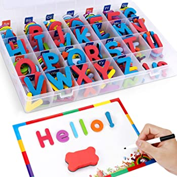 208-Piece Xin store Magnetic Letters with Writing Board and Storage Box