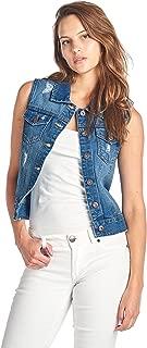 Women's Denim Jean Sleeveless Vest