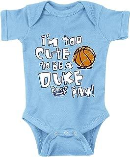 Smack Apparel North Carolina Tarheels Fans. Too Cute Onesie (NB-18M) & Toddler Tee (2T-4T)