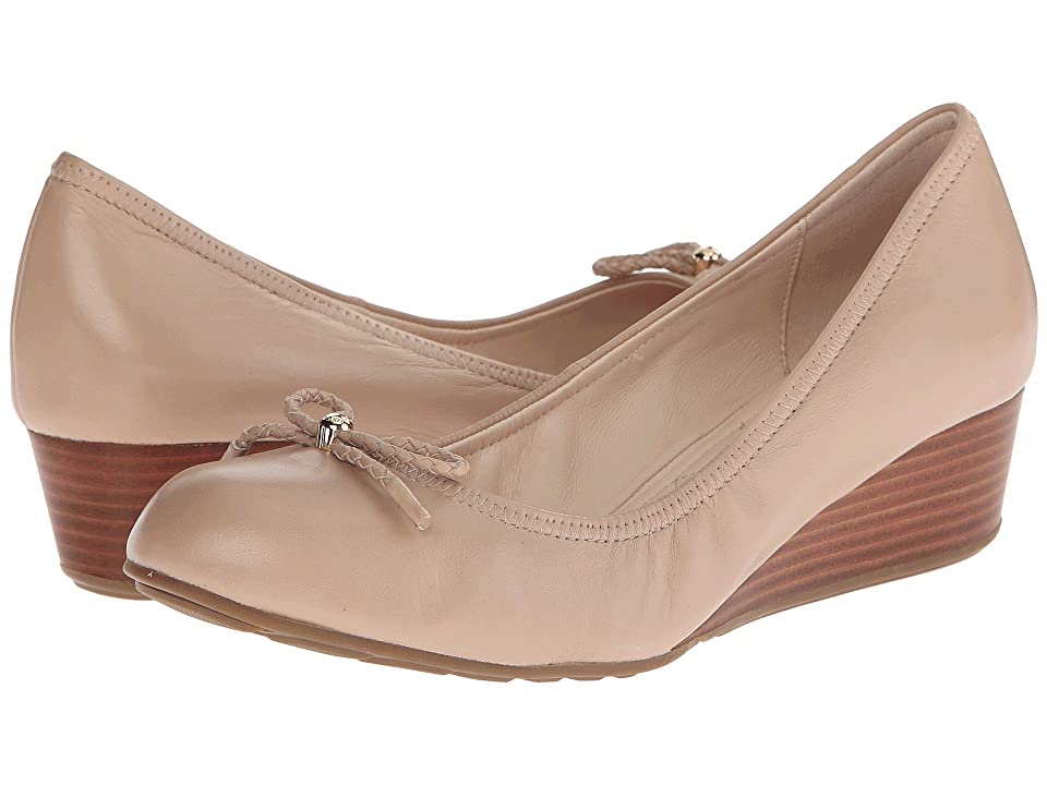 Cole Haan Tali Grand Lace Wedge 40 (Maple Sugar) Women's Slip on Shoes, Taupe