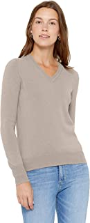 State Cashmere Essential V-Neck Sweater 100% Pure Cashmere Long Sleeve Pullover for Women