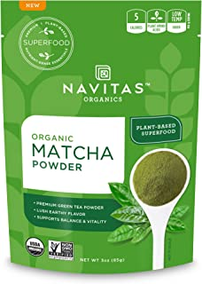 Navitas Organics Matcha Powder, 3oz. Pouch, 85 Servings — Premium Culinary Grade, Organic, Non-GMO, Gluten-Free