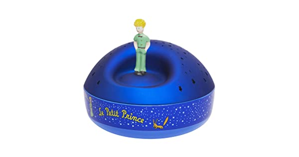 Trousselier Rotational Figurine Little Prince Star Projector with Music Night Light Batteries Included 5030