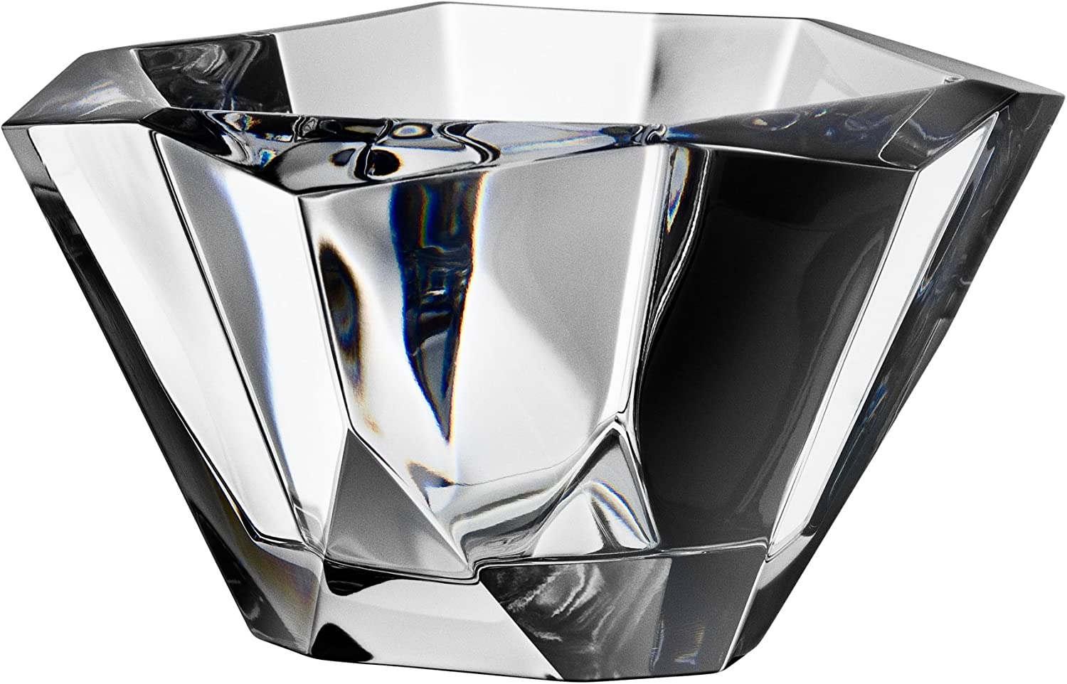 Orrefors Precious 6-1 4-Inch Faceted Crystal Bowl