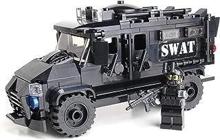 Battle Brick Armored Police SWAT Truck Custom Set
