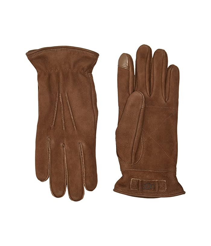 UGG  3 Point Leather Tech Gloves with Sherpa Lining (Chocolate) Extreme Cold Weather Gloves
