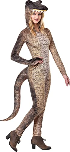 venta al por mayor barato Wohombres Deadly Dinosaur Fancy Dress Costume Costume Costume Small  alto descuento