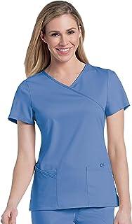 Urbane Modern V-Neck 6-Pocket Scrub Top for Women 9577