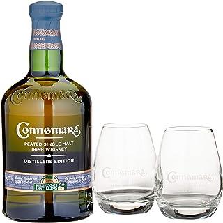 Connemara Irish Peated Malt Distillers Edition mit Geschenkverpackung mit 2 Gläsern Whisky 1 x 0.7 l