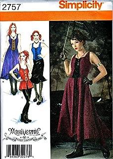 2757 Dress Gothic Couture Punk Pattern Miss 14 16 18 20 22 SIMPLICITY UNCUT ##cherils