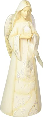 """Foundations Simply Inspired Family Angel Stone Resin Figurine, 12"""""""