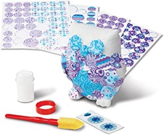 Melissa & Doug Decoupage Made Easy Owl Paper Mache Craft Kit With Stickers