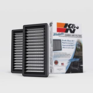K&N Premium Cabin Air Filter: High Performance, Washable, Clean Airflow to your Cabin: Designed For Select 2011-2018 Jeep Wrangler Vehicle Models, VF1010