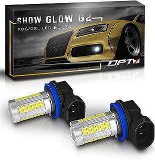 OPT7 Show Glow H11 LED Fog Light Bulbs - 27-SMD 10000K Deep Blue @ 350Lm per Bulb - Plug-n-Play (Pack of 2)