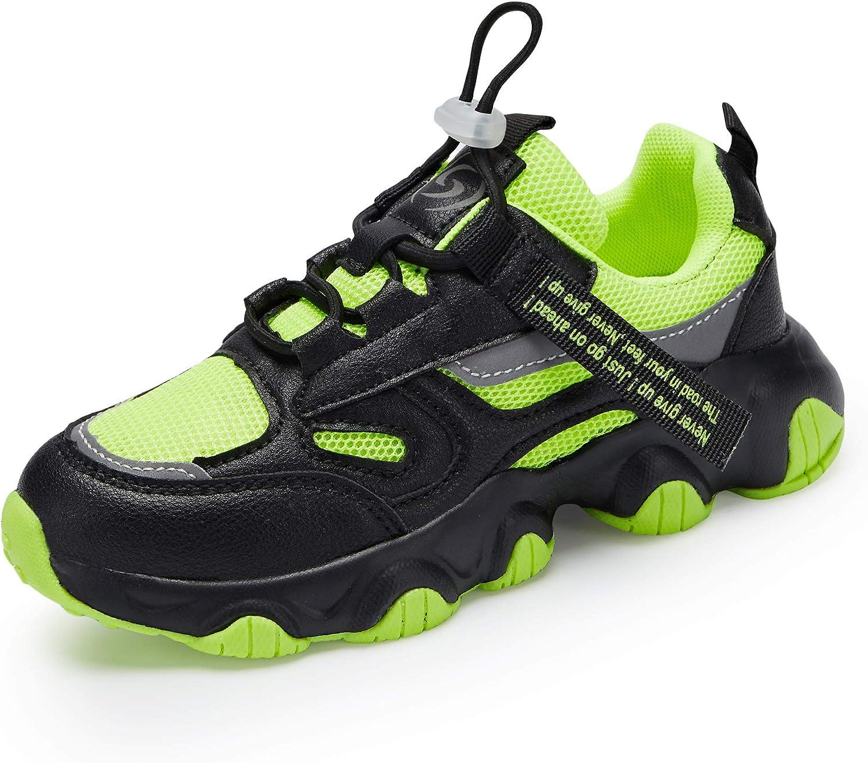 Hetios Boys/Girls Shoes Kids Boys Tennis Running Shoes Waterproof Hiking Shoes Kids Athletic Outdoor Sneakers Slip Resistant(Toddler/Little Kid/Big Kid)